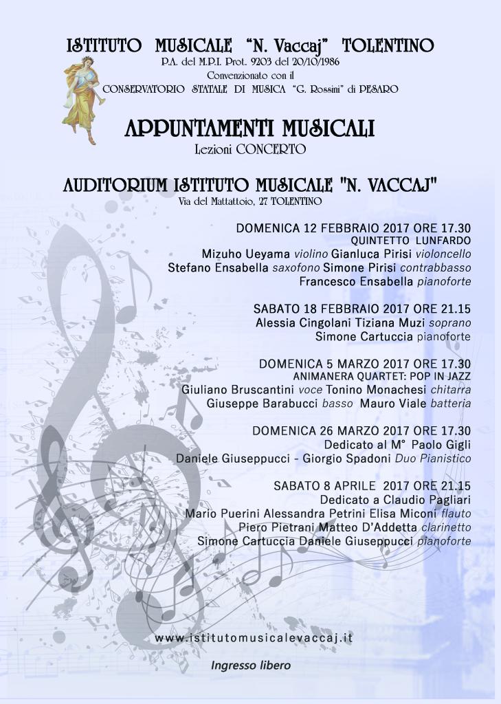 Locandina Appuntamenti Musicali